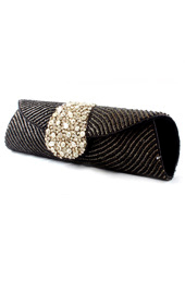 Vogue Crafts and Designs Pvt. Ltd. manufactures Dots of Black and Silver Clutch at wholesale price.