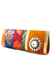 Vogue Crafts and Designs Pvt. Ltd. manufactures Multicolor Evening Clutch at wholesale price.