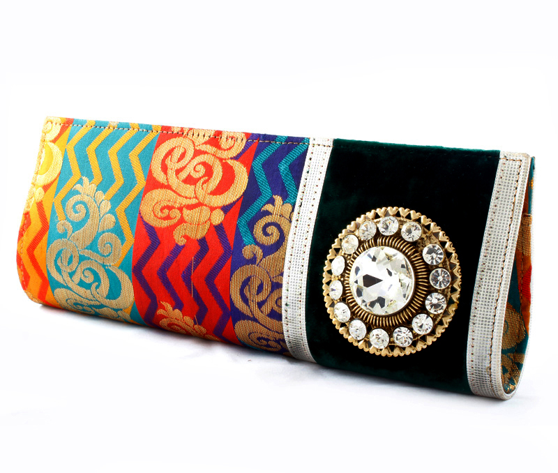 Vogue Crafts & Designs Pvt. Ltd. manufactures Multicolor Evening Clutch at wholesale price.