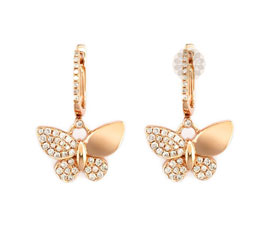 Butterfly Gold and Diamond Earrings