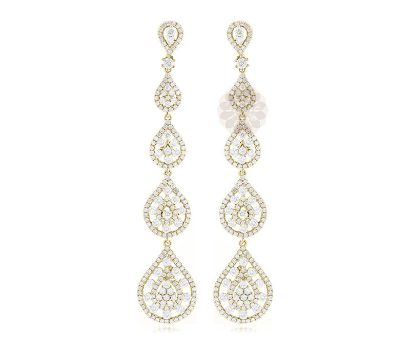 Vogue Crafts & Designs Pvt. Ltd. manufactures Designer Gold Dangler Earrings at wholesale price.