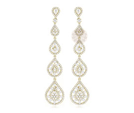 Designer Gold Dangler Earrings
