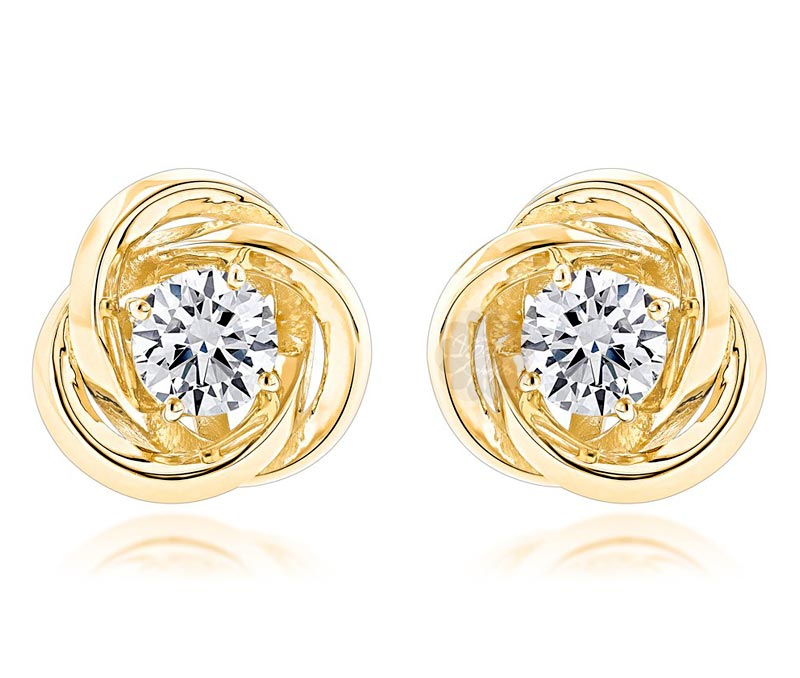 Vogue Crafts & Designs Pvt. Ltd. manufactures Gold Knot Stud Earrings at wholesale price.