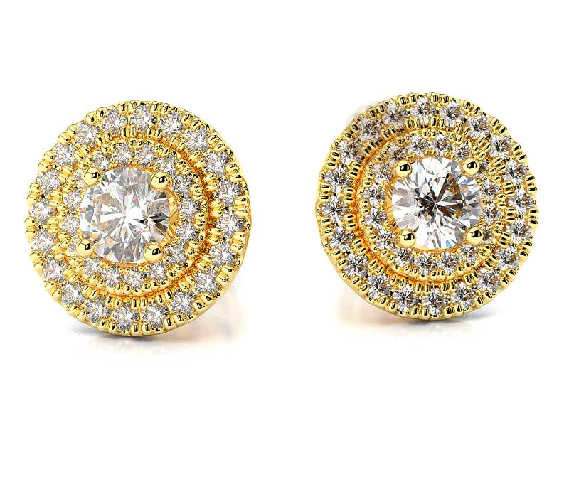 Vogue Crafts & Designs Pvt. Ltd. manufactures Diamond Stud Earrings at wholesale price.