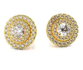Vogue Crafts and Designs Pvt. Ltd. manufactures Diamond Stud Earrings at wholesale price.