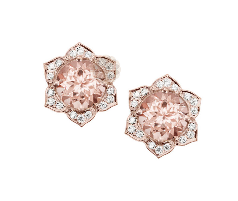 Vogue Crafts & Designs Pvt. Ltd. manufactures Diamond Flower Stud Earrings at wholesale price.