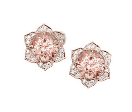 Vogue Crafts and Designs Pvt. Ltd. manufactures Diamond Flower Stud Earrings at wholesale price.
