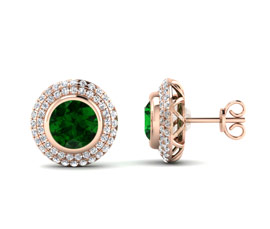 Vogue Crafts and Designs Pvt. Ltd. manufactures Rose Gold Stud Earrings at wholesale price.