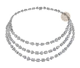 Vogue Crafts and Designs Pvt. Ltd. manufactures Richly Enchanting Diamond Necklace at wholesale price.