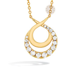 Optima Gold and Diamond Pendant
