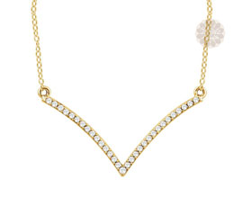 Angular Gold and Diamond Necklace