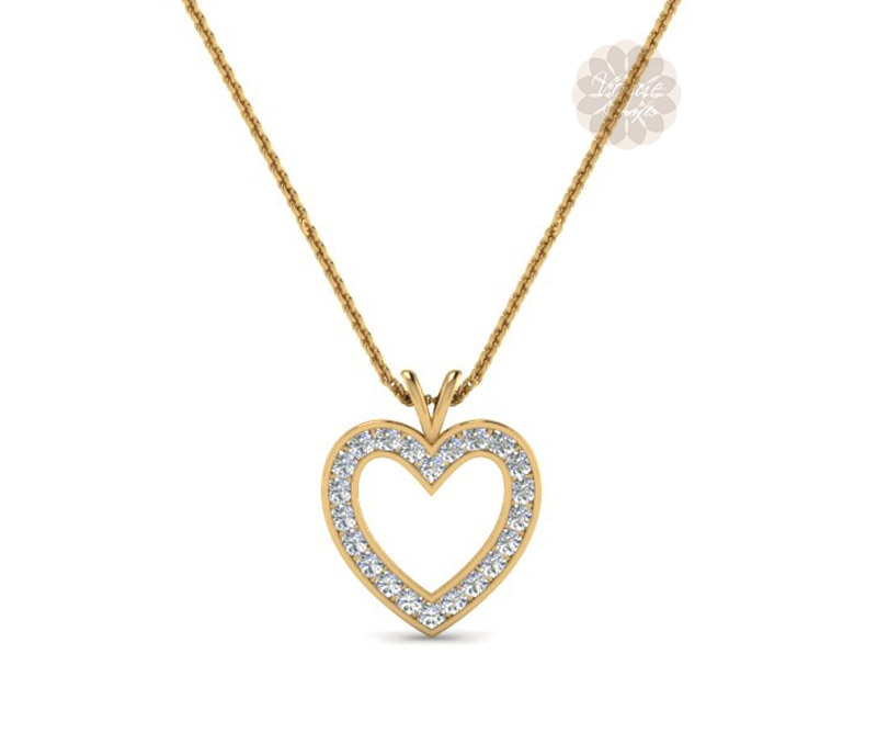 Vogue Crafts & Designs Pvt. Ltd. manufactures Gold Heart Pendant at wholesale price.