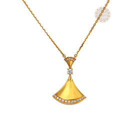 Designer Diamond and Gold Pendant
