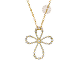 Vogue Crafts and Designs Pvt. Ltd. manufactures Diamond Flower Pendant at wholesale price.
