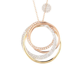 Vogue Crafts and Designs Pvt. Ltd. manufactures Multiple Gold Rings Pendant at wholesale price.