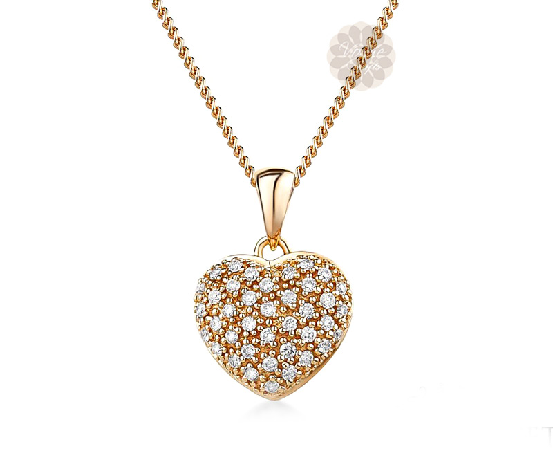 Vogue Crafts & Designs Pvt. Ltd. manufactures Diamond Heart Pendant at wholesale price.
