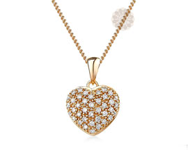Vogue Crafts and Designs Pvt. Ltd. manufactures Diamond Heart Pendant at wholesale price.