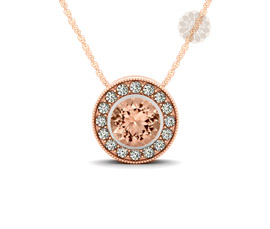 Vogue Crafts and Designs Pvt. Ltd. manufactures Rose Gold Round Pendant at wholesale price.