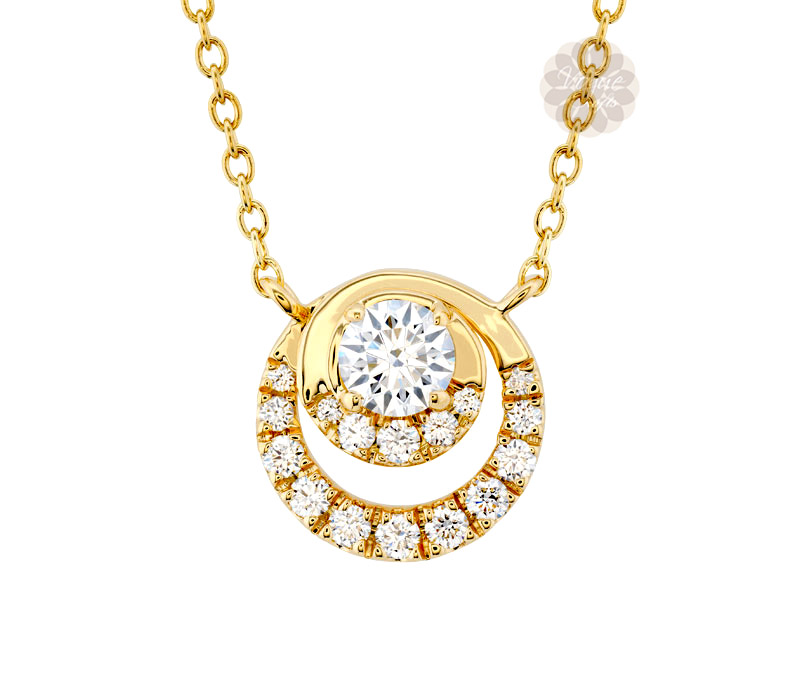 Vogue Crafts & Designs Pvt. Ltd. manufactures Double Ring Diamond Pendant at wholesale price.