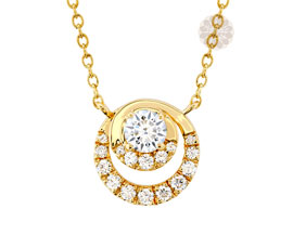 Vogue Crafts and Designs Pvt. Ltd. manufactures Double Ring Diamond Pendant at wholesale price.