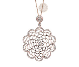 Vogue Crafts and Designs Pvt. Ltd. manufactures Rose Gold Flower Pendant at wholesale price.