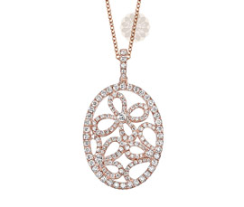 Vogue Crafts and Designs Pvt. Ltd. manufactures Rose Gold Floral Pendant at wholesale price.