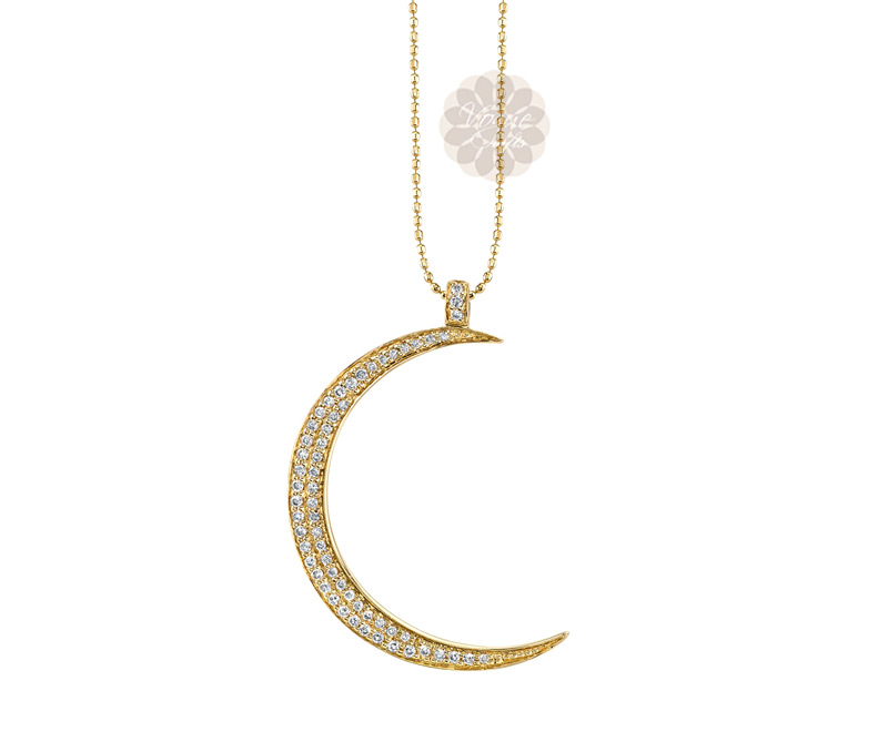 Vogue Crafts & Designs Pvt. Ltd. manufactures Vintage Diamond Moon Pendant at wholesale price.