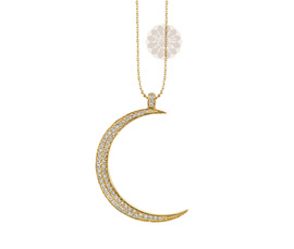 Vogue Crafts and Designs Pvt. Ltd. manufactures Vintage Diamond Moon Pendant at wholesale price.