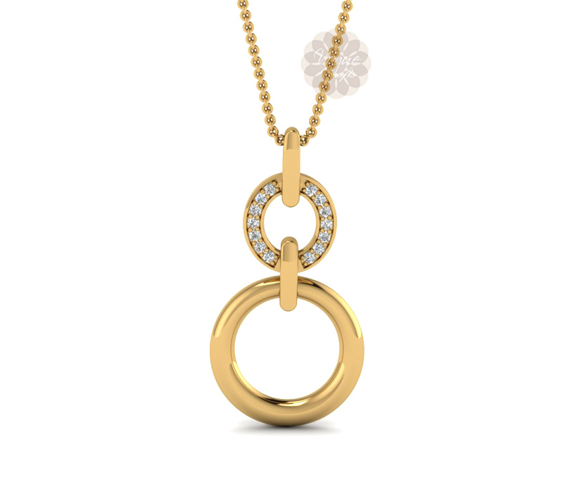 Vogue Crafts & Designs Pvt. Ltd. manufactures Double Ring Gold Pendant at wholesale price.