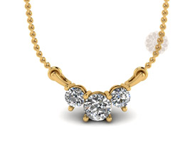 Vogue Crafts and Designs Pvt. Ltd. manufactures Classic Diamond and Gold Pendant at wholesale price.