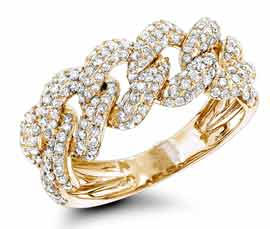 Vogue Crafts and Designs Pvt. Ltd. manufactures Diamond Link Ring at wholesale price.