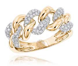 Vogue Crafts and Designs Pvt. Ltd. manufactures Gold Link Ring at wholesale price.