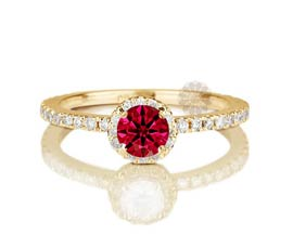 Vogue Crafts and Designs Pvt. Ltd. manufactures Diamond and Ruby Ring at wholesale price.