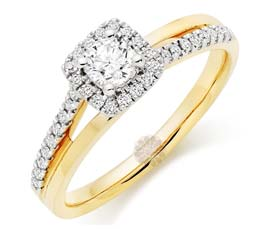 Vogue Crafts and Designs Pvt. Ltd. manufactures Crossover Diamond Ring at wholesale price.