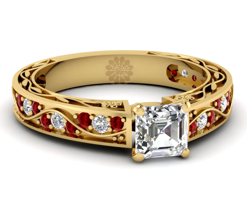 Vogue Crafts & Designs Pvt. Ltd. manufactures Ruby and Gold Ring at wholesale price.