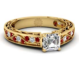 Vogue Crafts and Designs Pvt. Ltd. manufactures Ruby and Gold Ring at wholesale price.