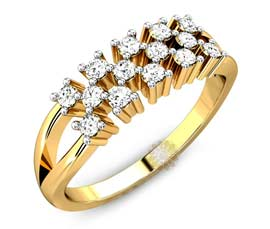 Vogue Crafts and Designs Pvt. Ltd. manufactures Diamond Wedding Ring at wholesale price.