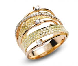 Vogue Crafts and Designs Pvt. Ltd. manufactures Fancy Diamond Ring at wholesale price.