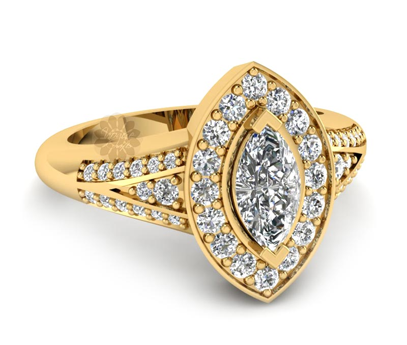 Vogue Crafts & Designs Pvt. Ltd. manufactures Fancy Diamond and Gold Ring at wholesale price.