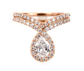 Vogue Crafts and Designs Pvt. Ltd. manufactures Classic Rose Gold Ring at wholesale price.