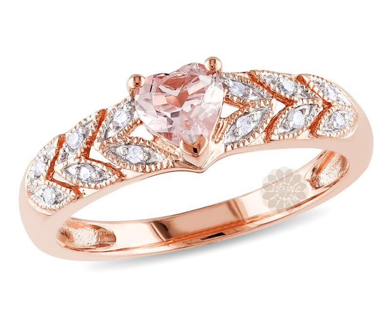 Vogue Crafts & Designs Pvt. Ltd. manufactures Rose Gold Heart Ring at wholesale price.