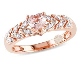 Vogue Crafts and Designs Pvt. Ltd. manufactures Rose Gold Heart Ring at wholesale price.
