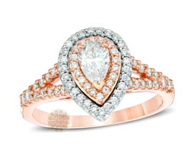Vogue Crafts and Designs Pvt. Ltd. manufactures Rose Gold Engagement Ring at wholesale price.