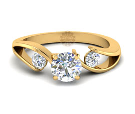 Vogue Crafts and Designs Pvt. Ltd. manufactures Designer Diamond and Gold Ring at wholesale price.