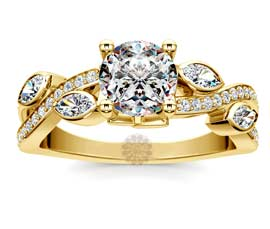 Vogue Crafts and Designs Pvt. Ltd. manufactures Twisted Leaf Diamond Ring at wholesale price.