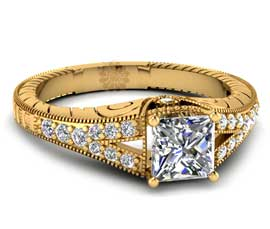 Vogue Crafts and Designs Pvt. Ltd. manufactures Antique Diamond Ring at wholesale price.