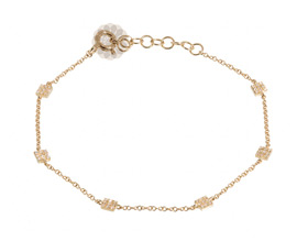 Vogue Crafts and Designs Pvt. Ltd. manufactures Stylish Square Affair Gold Anklet at wholesale price.