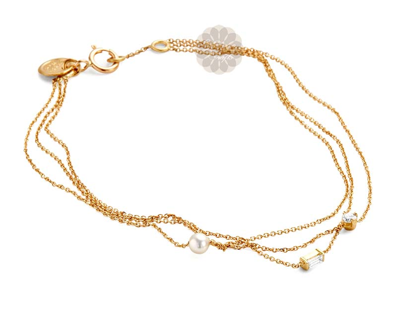 Vogue Crafts & Designs Pvt. Ltd. manufactures Layered Gold Anklet at wholesale price.
