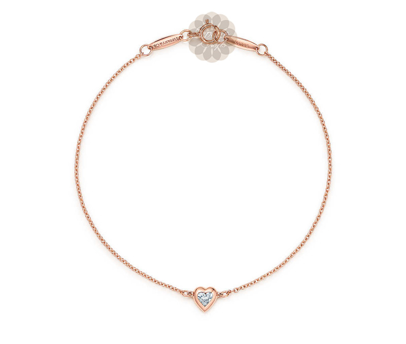 Latest Design Jewelry - Rose Gold Heart Anklet .