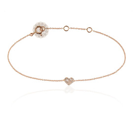 Vogue Crafts and Designs Pvt. Ltd. manufactures Diamond Heart Anklet at wholesale price.